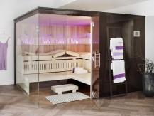 Die Sauna Varioline besticht durch Variationen im Innen- und Aussenbereich
