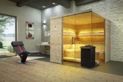 Sauna Aurora Premium mit Alpen-Zirbeholz