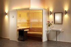 Sauna Aurora mit Eckeinstieg