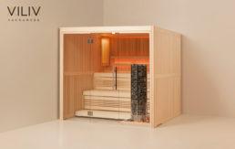 Design Massivholz-Saunaanlage